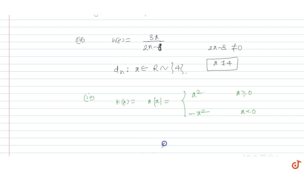 Solution for Find the domain of functions : (i) f(x)= 1,sqrt(1