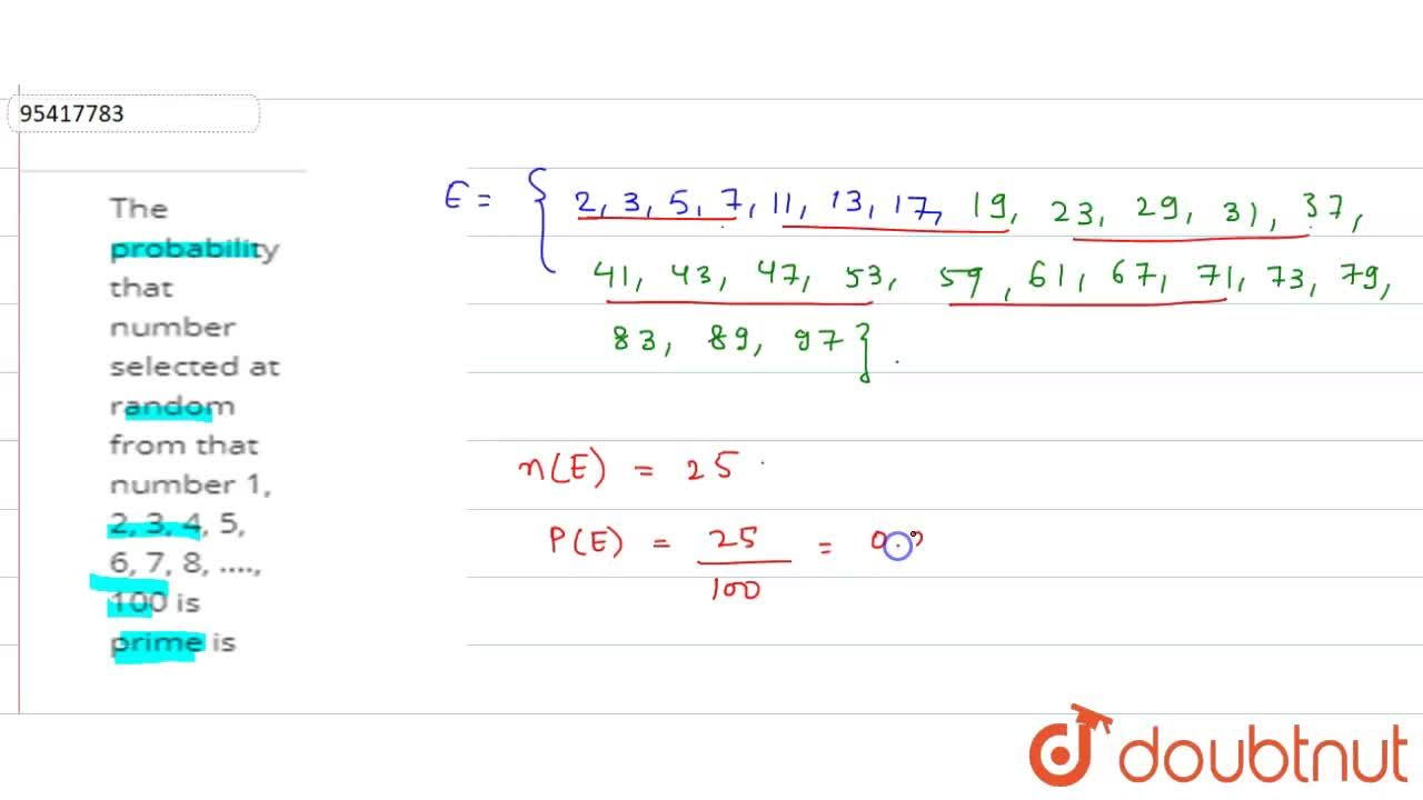 Solution for The probability that number selected at random fro