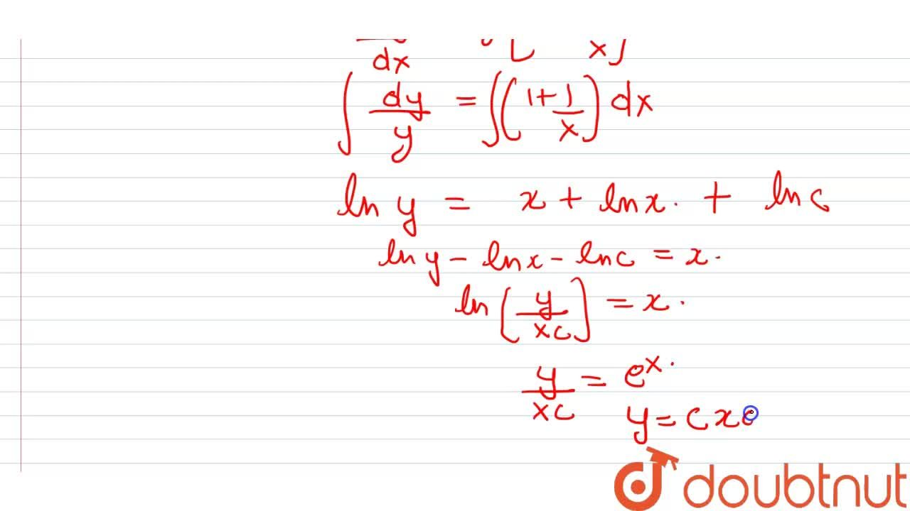 The equation of curve whose tangent at any point on it different form origin has slope y+(y),(x) , is