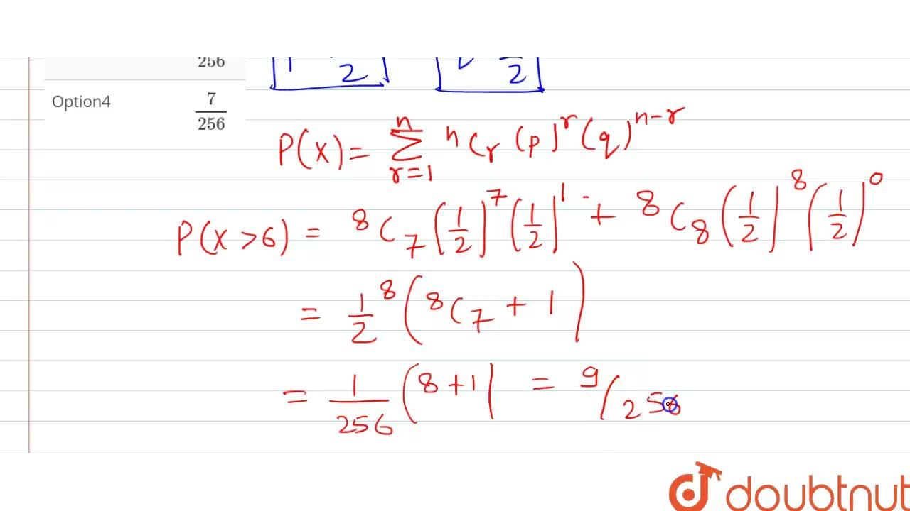 Solution for If the mean and variance of a random variable X ha