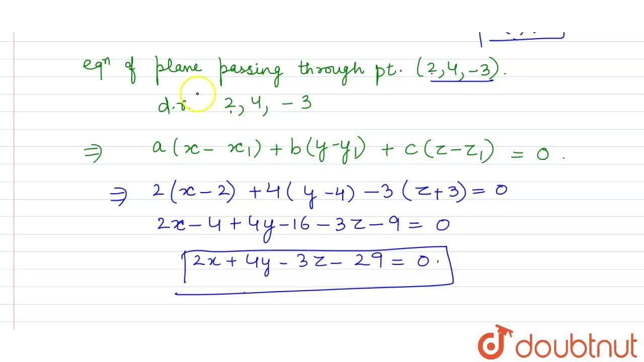 Solution for The coordinate of the foot of perpendicular drawn