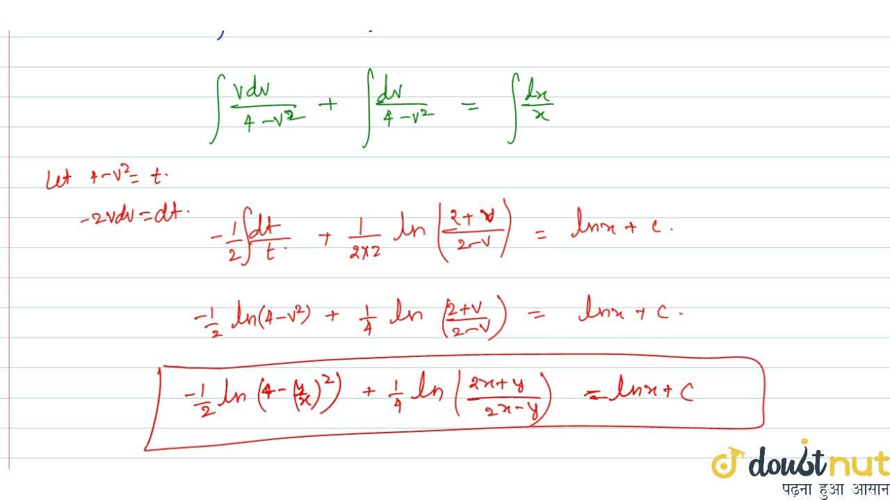 Solve the following differential equation:  (x+y)dy,dx=4x+y