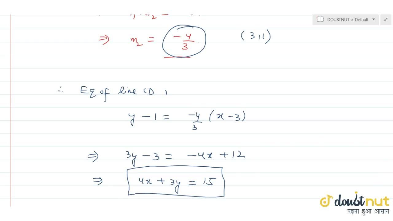 Solution for Equation of the right bisector of the line segment