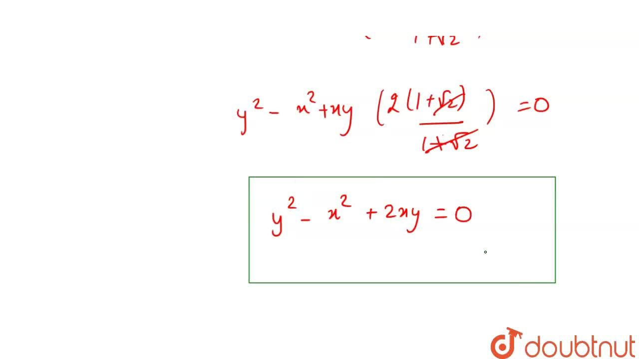 Solution for The joint equation of lines passing through origin