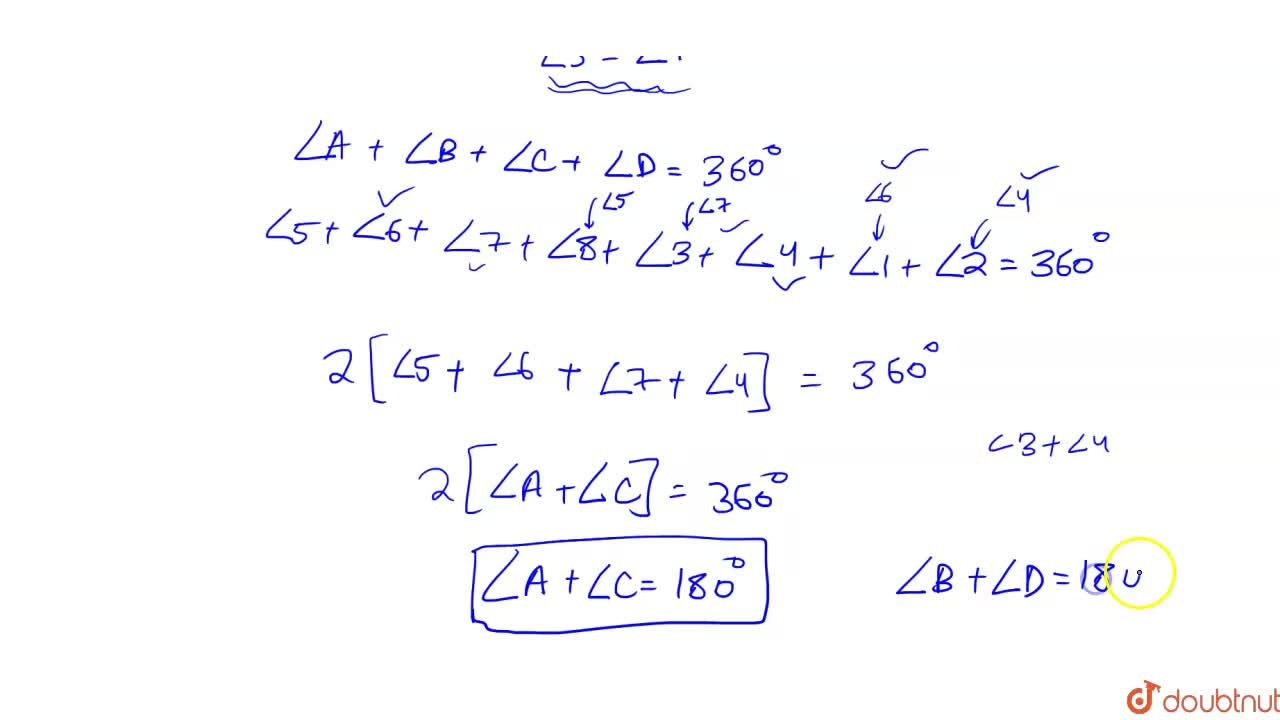 Solution for Theorem 10.11 : The sum of either pair of opposite