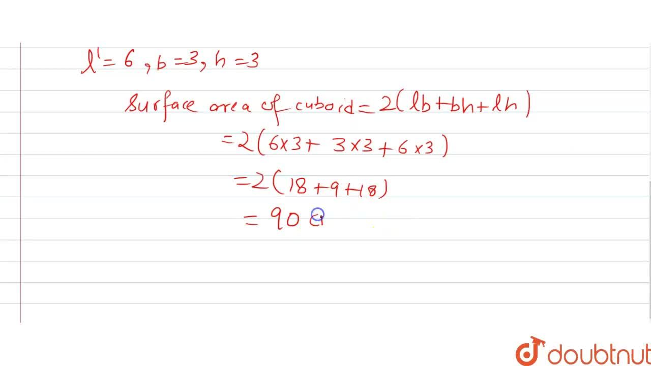 Two cubes each of volume 27 cm^3  are joined end to end to form a solid. Find the surface area of the resulting cuboid.