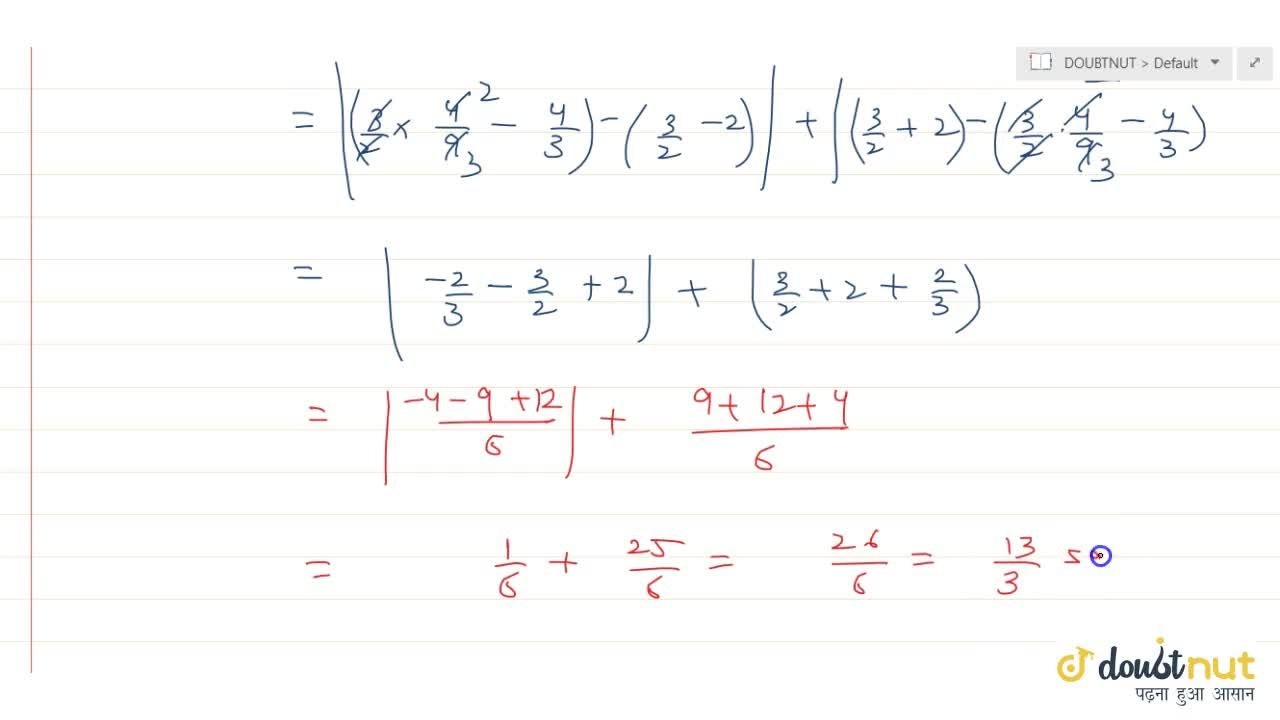 Solution for Find the area bounded by the curve y = 3x + 2, x