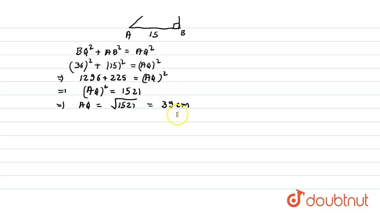 Solution for In the following figure (not  a scale ) ABCD is a