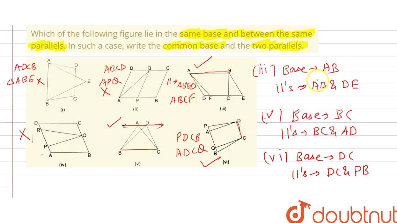 Solution for Which of the following figure lie in the same base