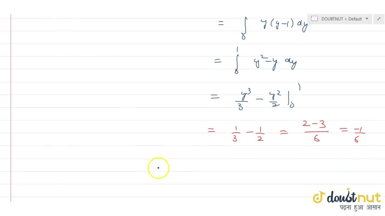 Solution for Calculate the area bounded by the curve y(y -1)=x