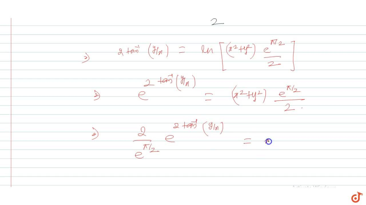 Solution for A tangent and a normal to a curve at the point (x