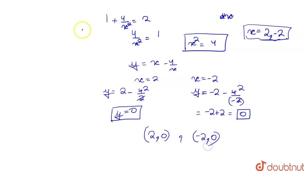 Solution for Find the coordinates of the point on the curve y=