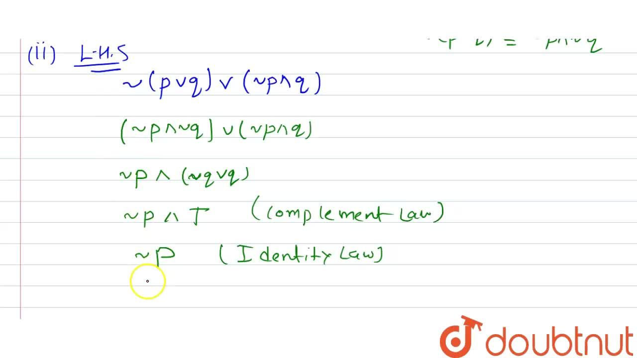 Solution for Without using truth table, show that <br> (1) pto