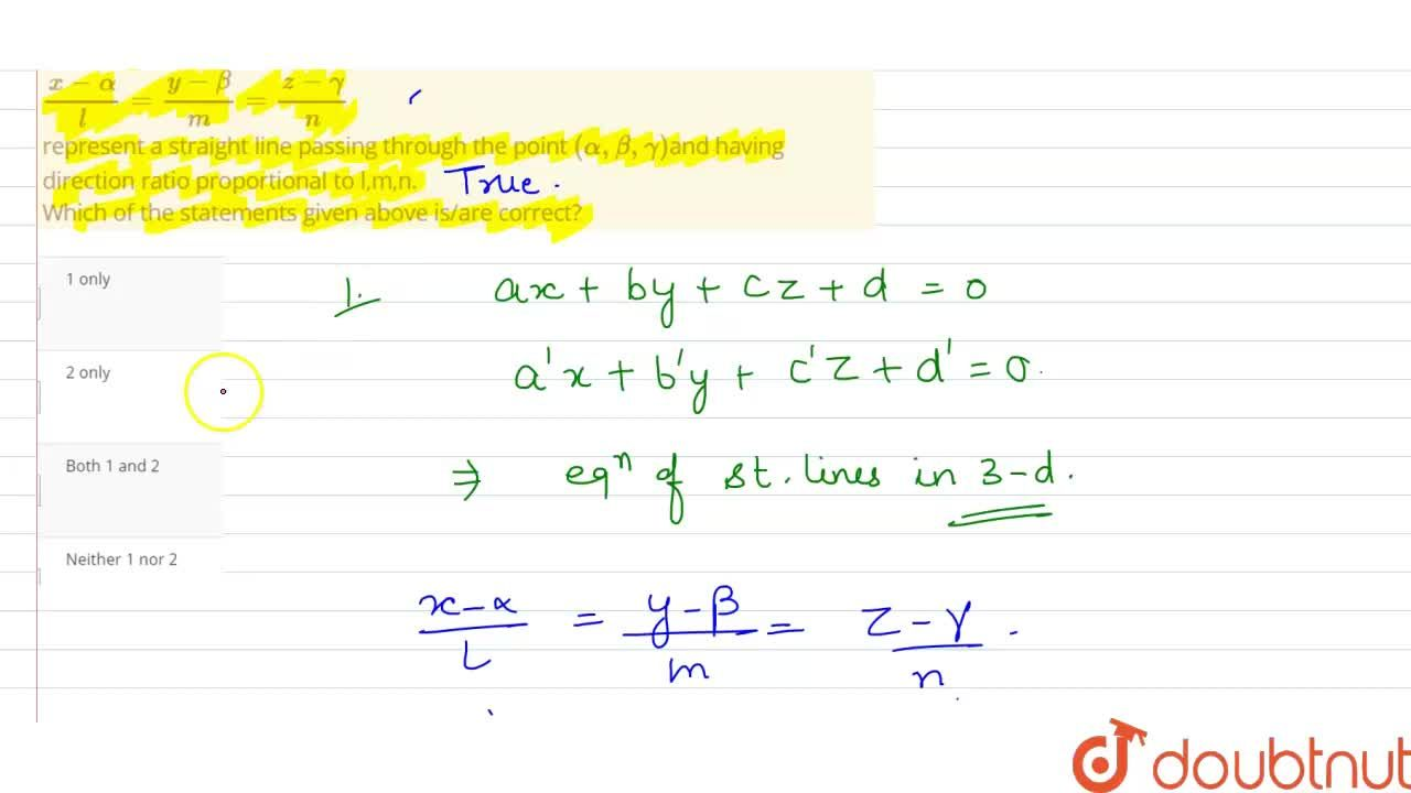 Solution for Consider the following statements :  <br> 1.  Equa