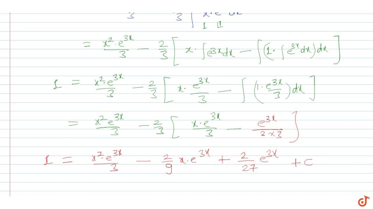 Solution for Integrate  w.r.t.  x , x^2e^(3x)