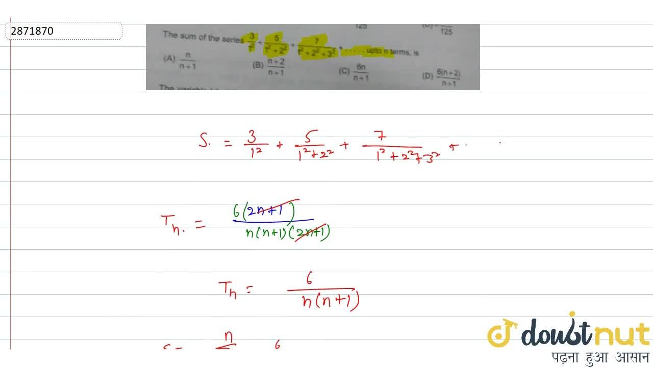 Solution for The sum of the series 3,(1^2)+5,(1^2+2^2)+7,(1^2+