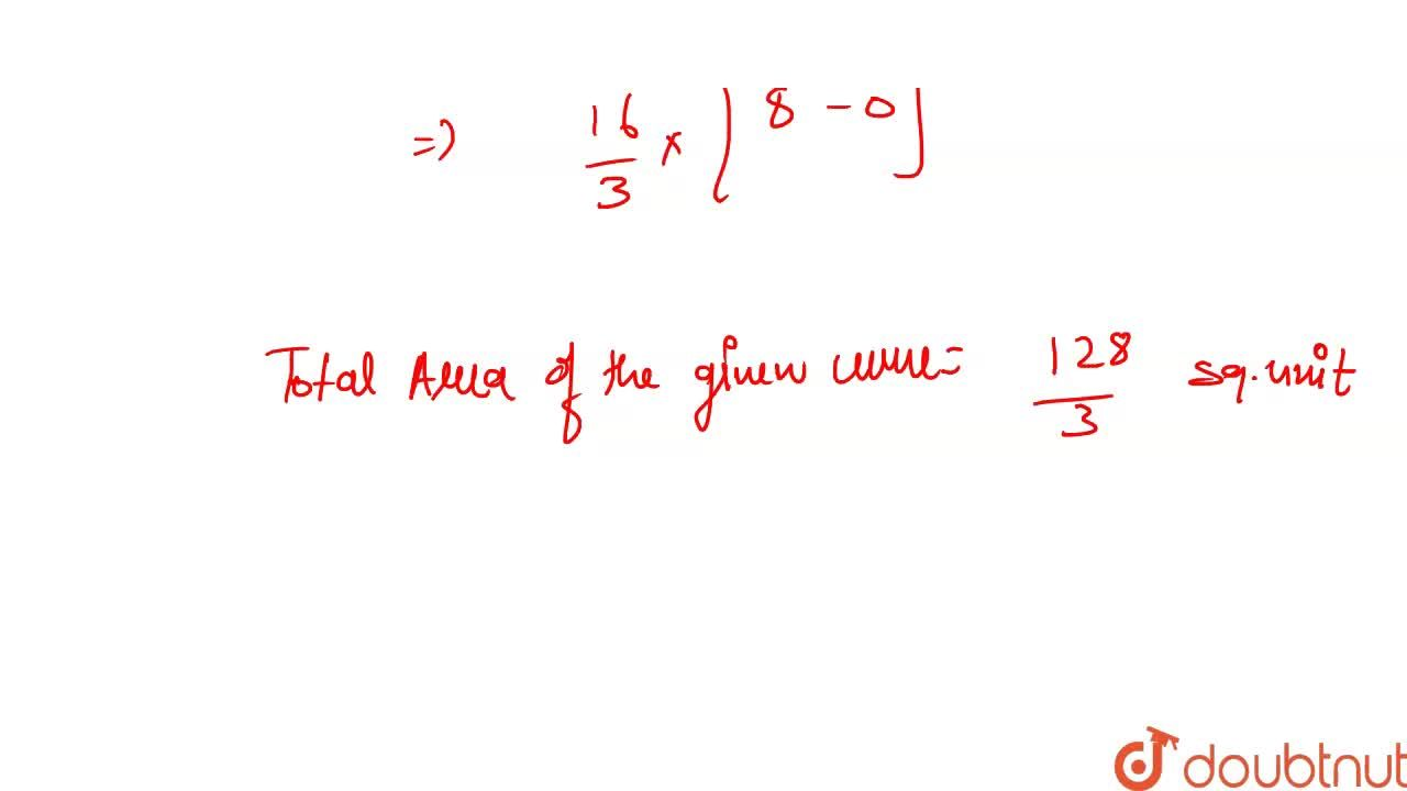 Find the  area of  the  region  bounded by  the  parabola    y ^ 2=  16 x    and  the line  x = 4  .