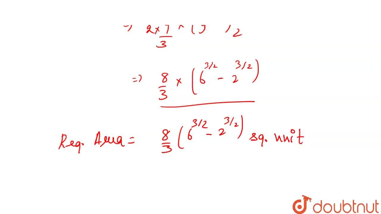 Find  the  area  of  the  region  bounded  by the curve    x^(2) =  16   y ,  lines    y  = 2,  y  =  6   and  Y  - axis  lying   in the  first  quadrant.
