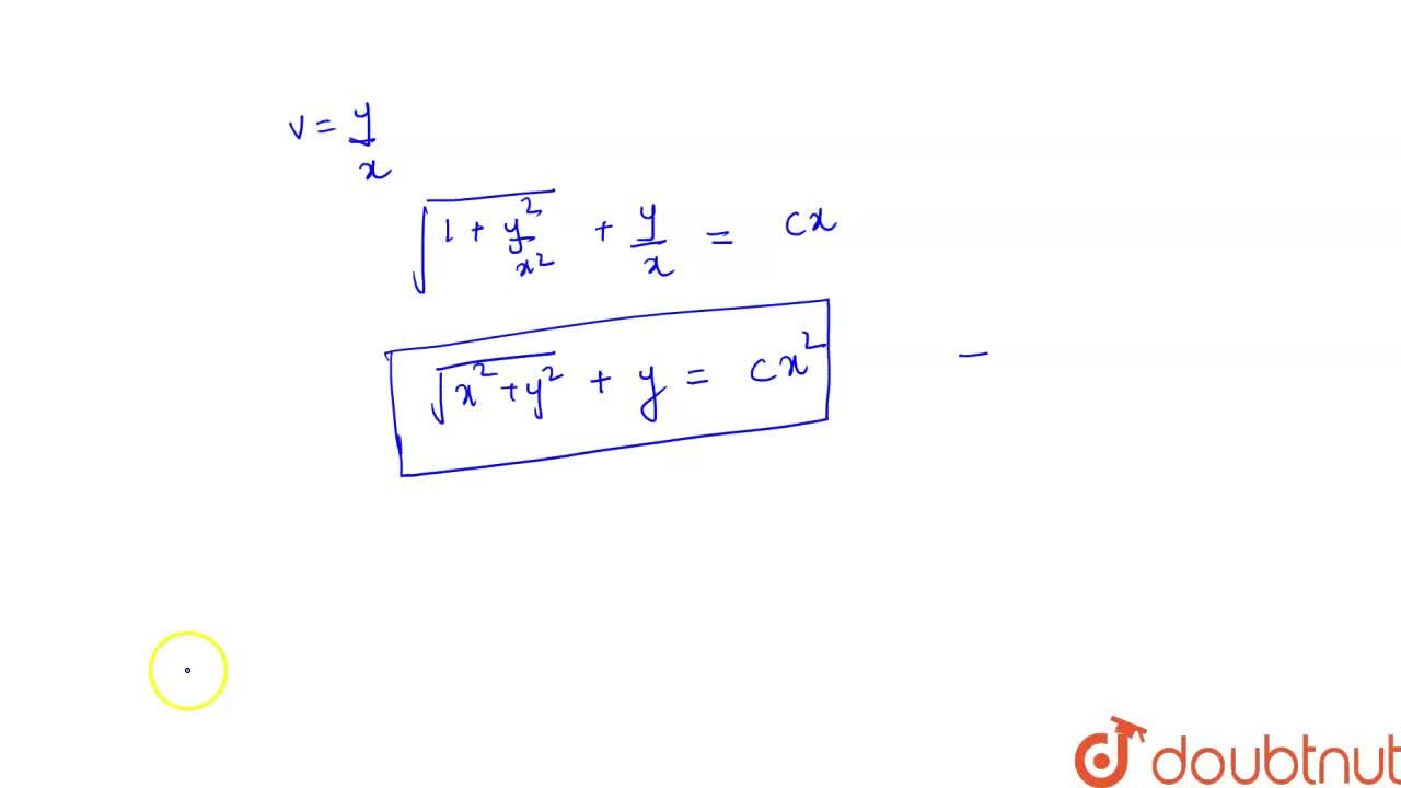 Solve the differential equation <br> x dy-y dx=sqrt(x^(2)+y^(2)) dx.