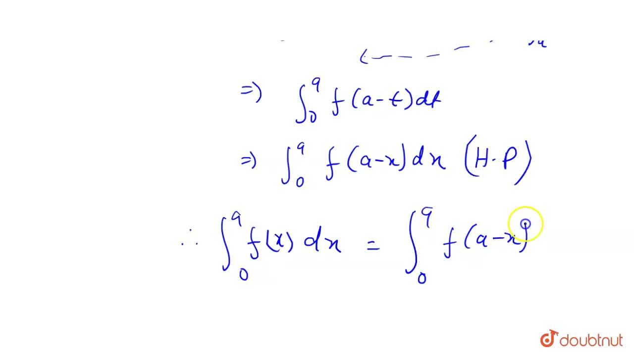 Solution for Prove the following properties of definite integra