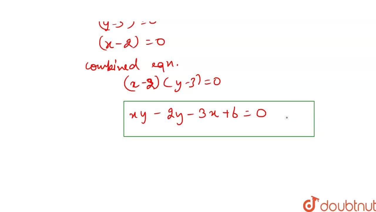 Solution for The joint equation of the pair of lines passing th