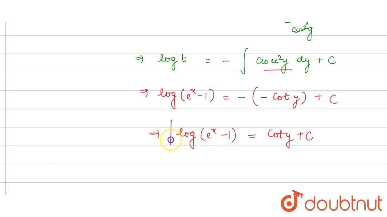 Solution for Solve the following differential equation. <br>
