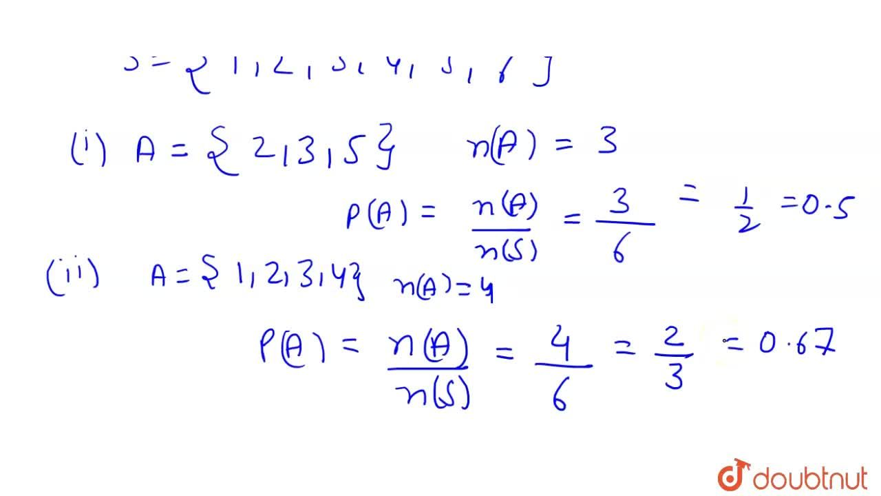 Solution for A die is rolled, A is the event of getting (i) a p