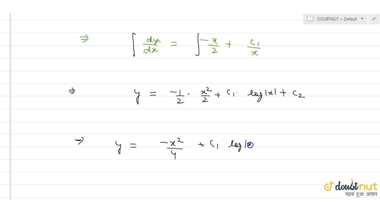 Solve the differential equation x(d^2y),(dx^2)+(dy),(dx)+x=0