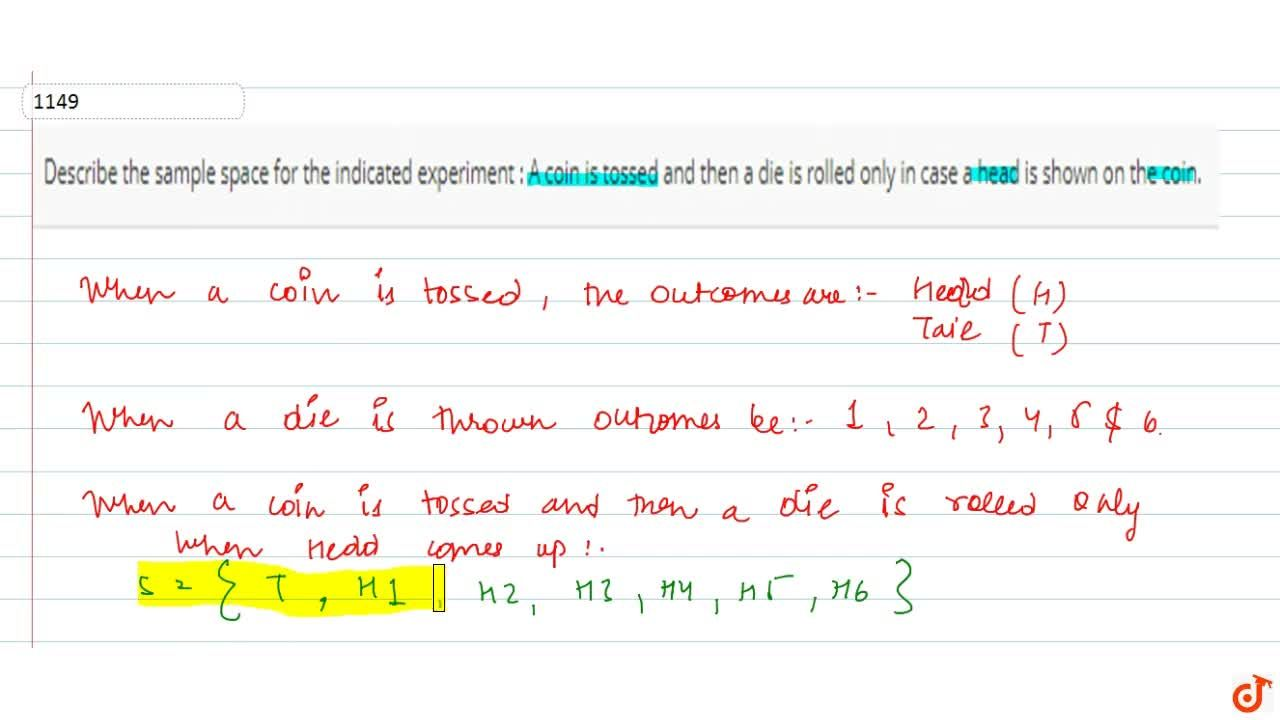 Solution for Describe the sample space for the indicated   exp