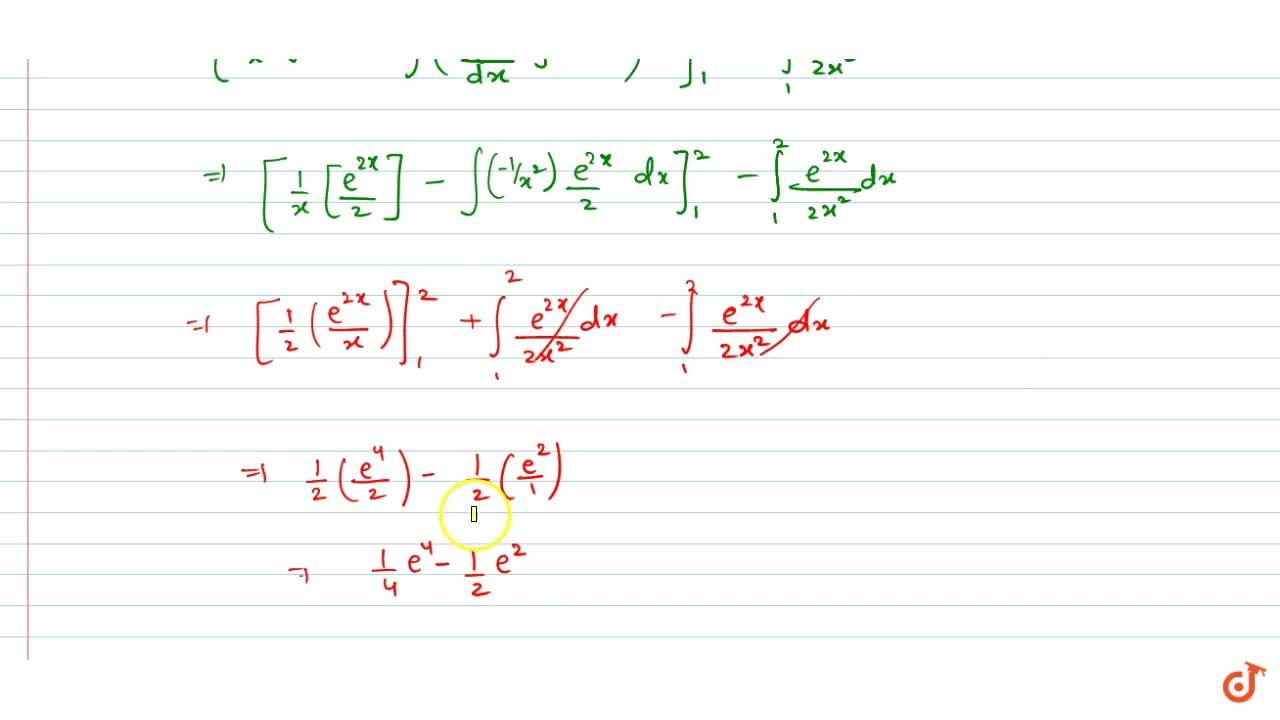 Solution for Evaluate the following definite integral: int_1^2