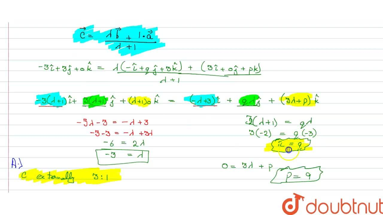 Solution for If the points A(3,0,p),B(-1,q,3) and C(-3,3,0) are