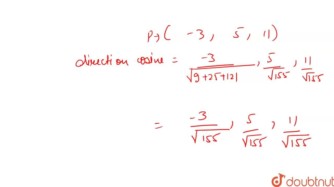 Solution for Find the direction cosines of the line perpendicul