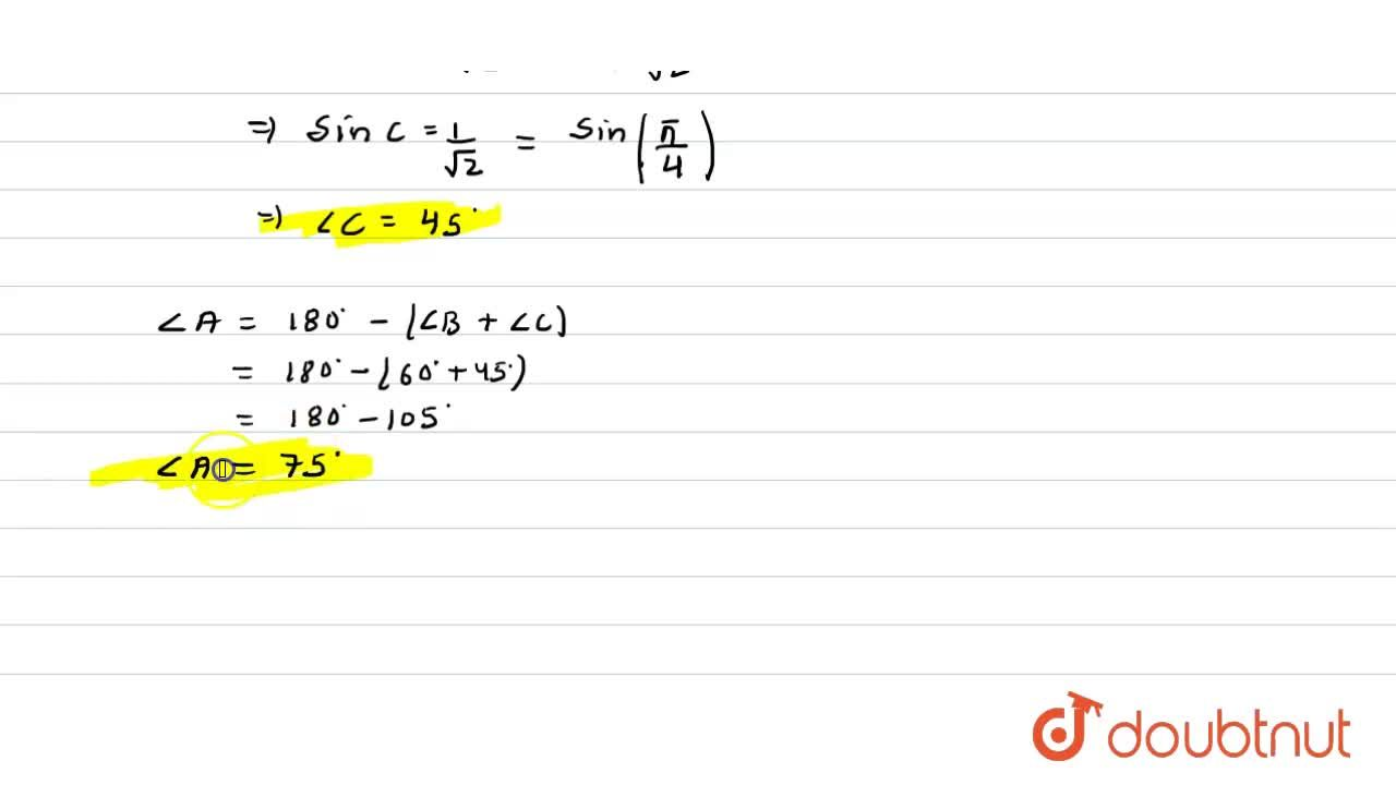 Solution for The angles of triangle ABC are in A.P. and b:c=