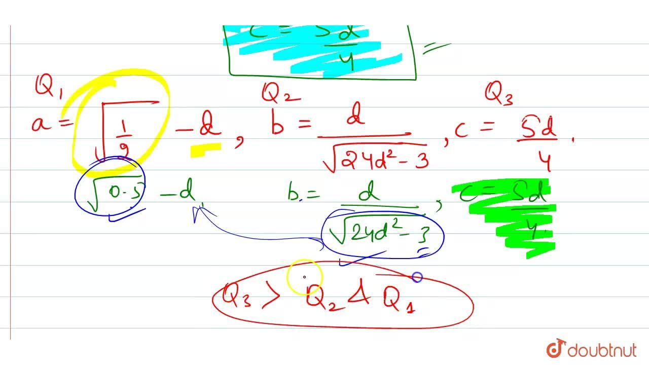 Solution for a,b,c and d are positive integers.  Quantity I: '