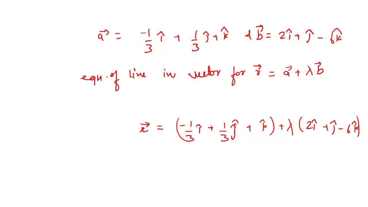Solution for The  cartesian  equation  of  a line  is     3x