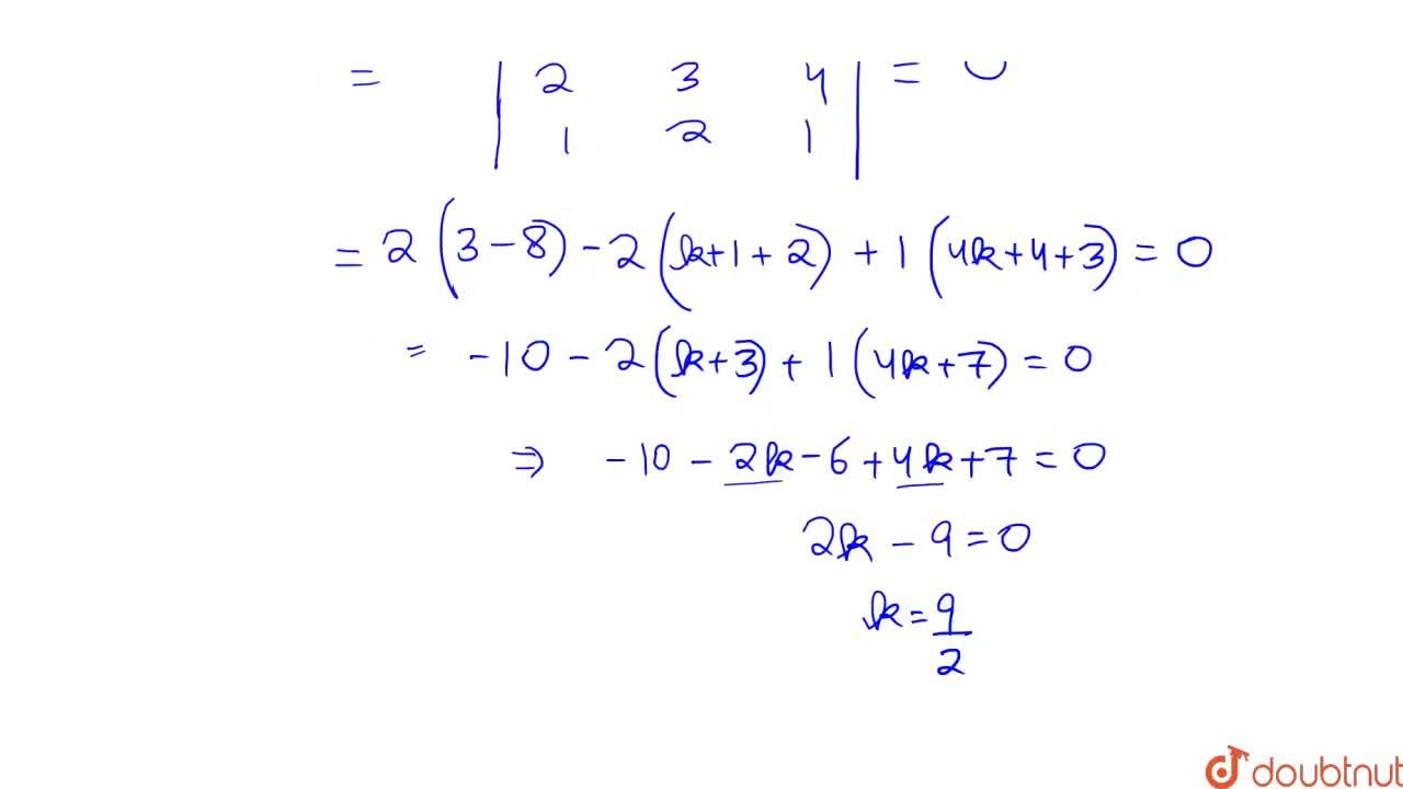 Solution for If the lines     ( x - 1 ) ,(2 )  = (  y  + 1) ,