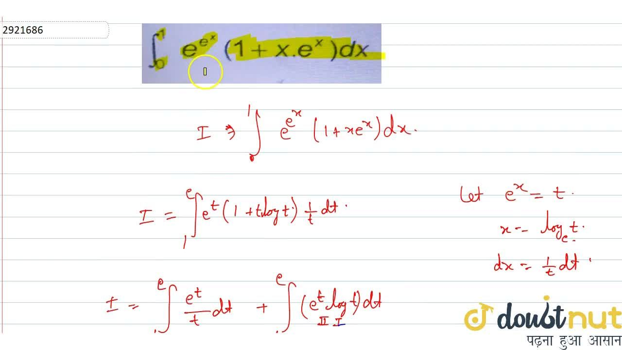 Solution for int_0^1 e^(e^x) (1+xe^x)dx