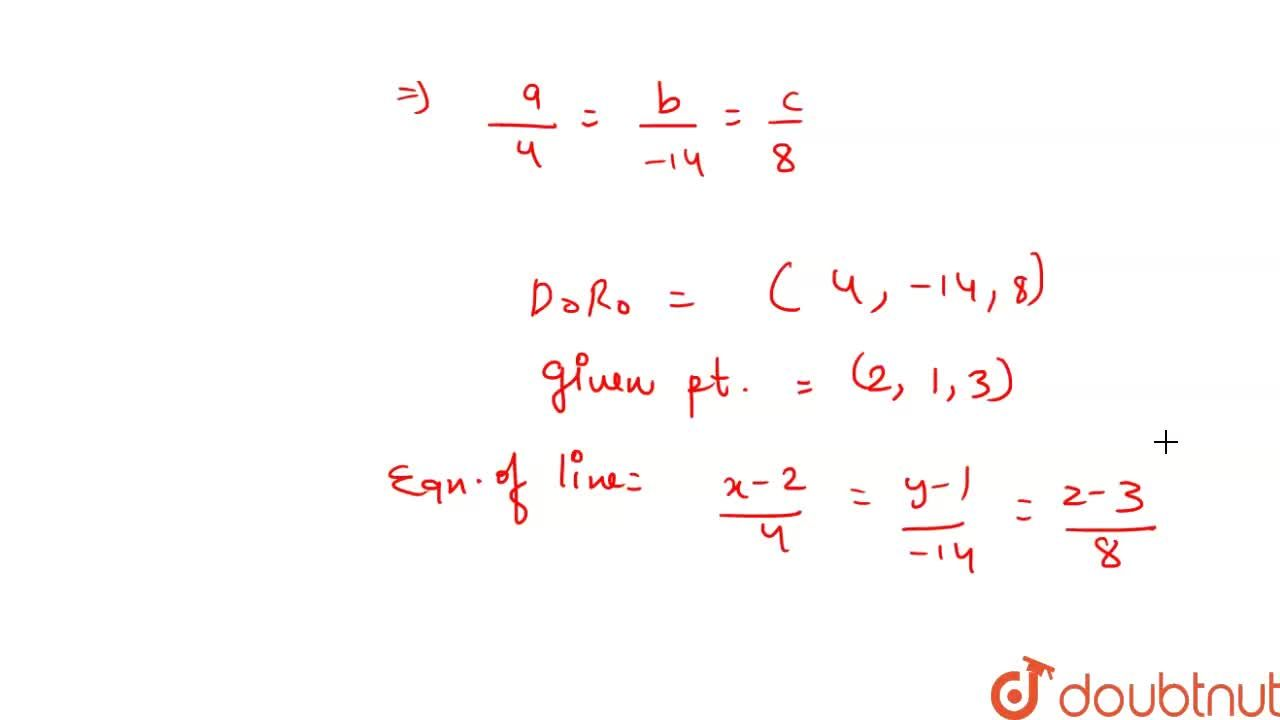 Solution for Find  the  equation  of  the line passing  through