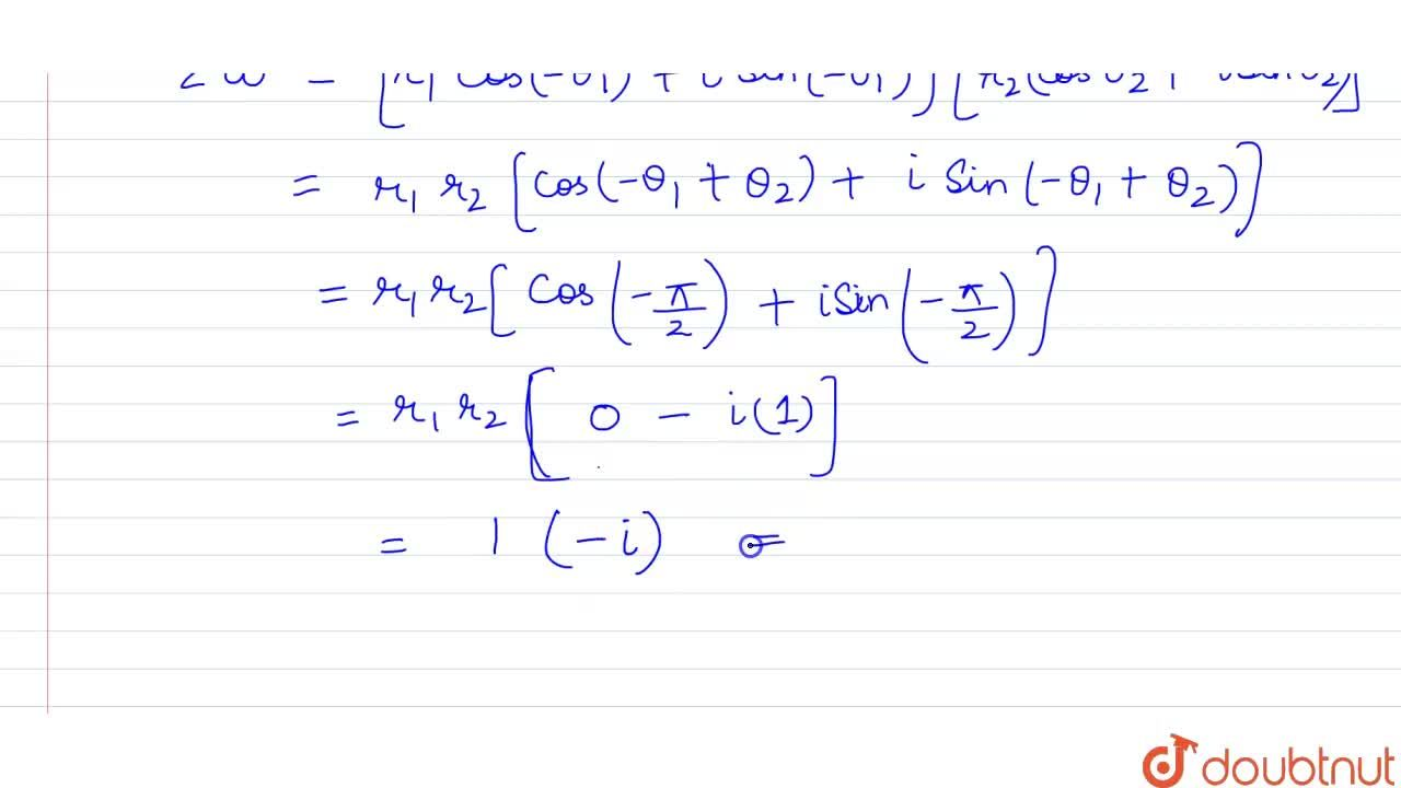 If z and omega are two non-zero complex numbers such that |zomega|=1 and arg(z)-arg(omega)=pi,2, then barzomega is equal to