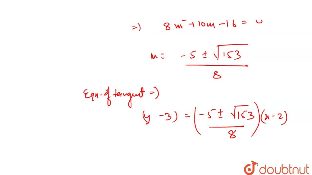 Find the equation of tangents to circle x^(2)+y^(2)-2x+4y-4=0 <br> drawn from point P(2,3).