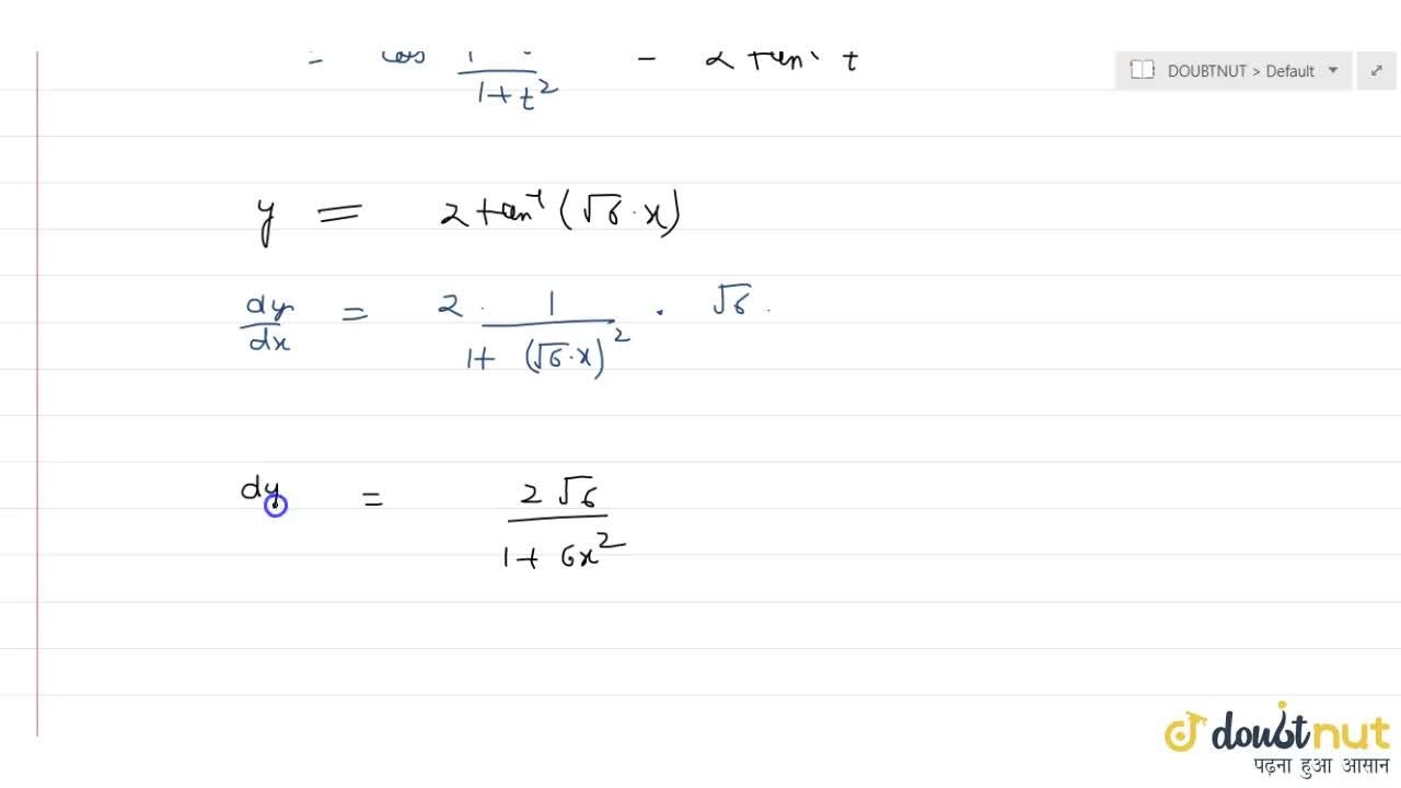 If y=cos^(-1)\ (1-6x^2),(1+6x^2), then dy,dx is