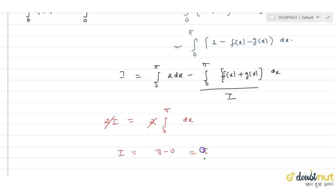 Solution for If f  and g are continuopus fucntions on [ 0, pi]