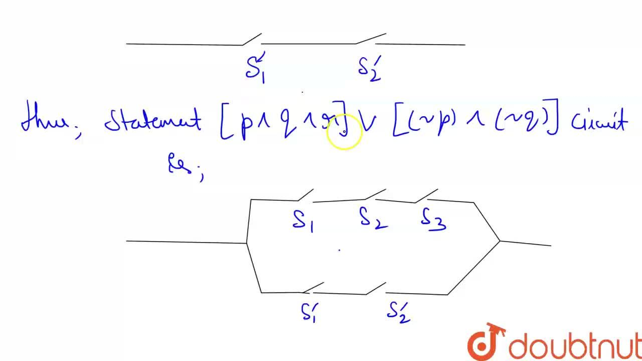 Solution for Construst a circuit for the statements  ( p ^^ q