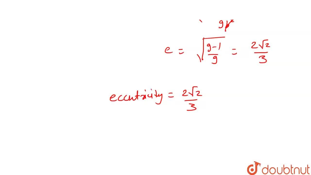 Solution for  if  the   major  axis   of an  ellipse  is three