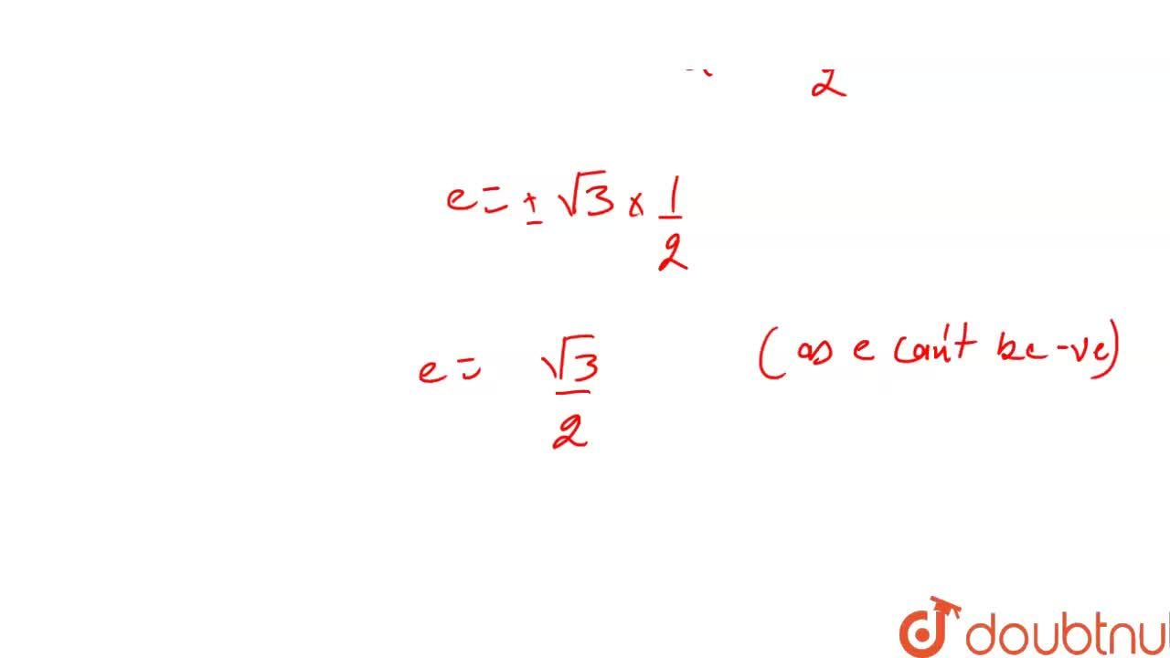 Solution for If the minor axis of an ellipse subtends an angle