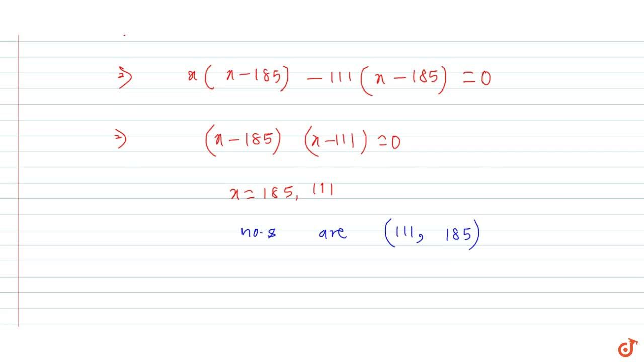 Solution for Finding the nos if one number is given and their L