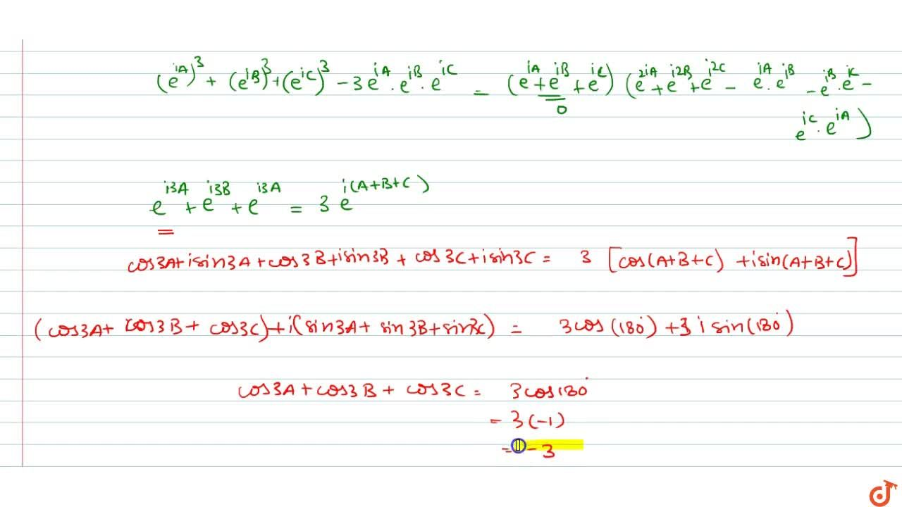 Solution for  If cosA+cosB+cosC=0,sinA + sinB + sinC=0and