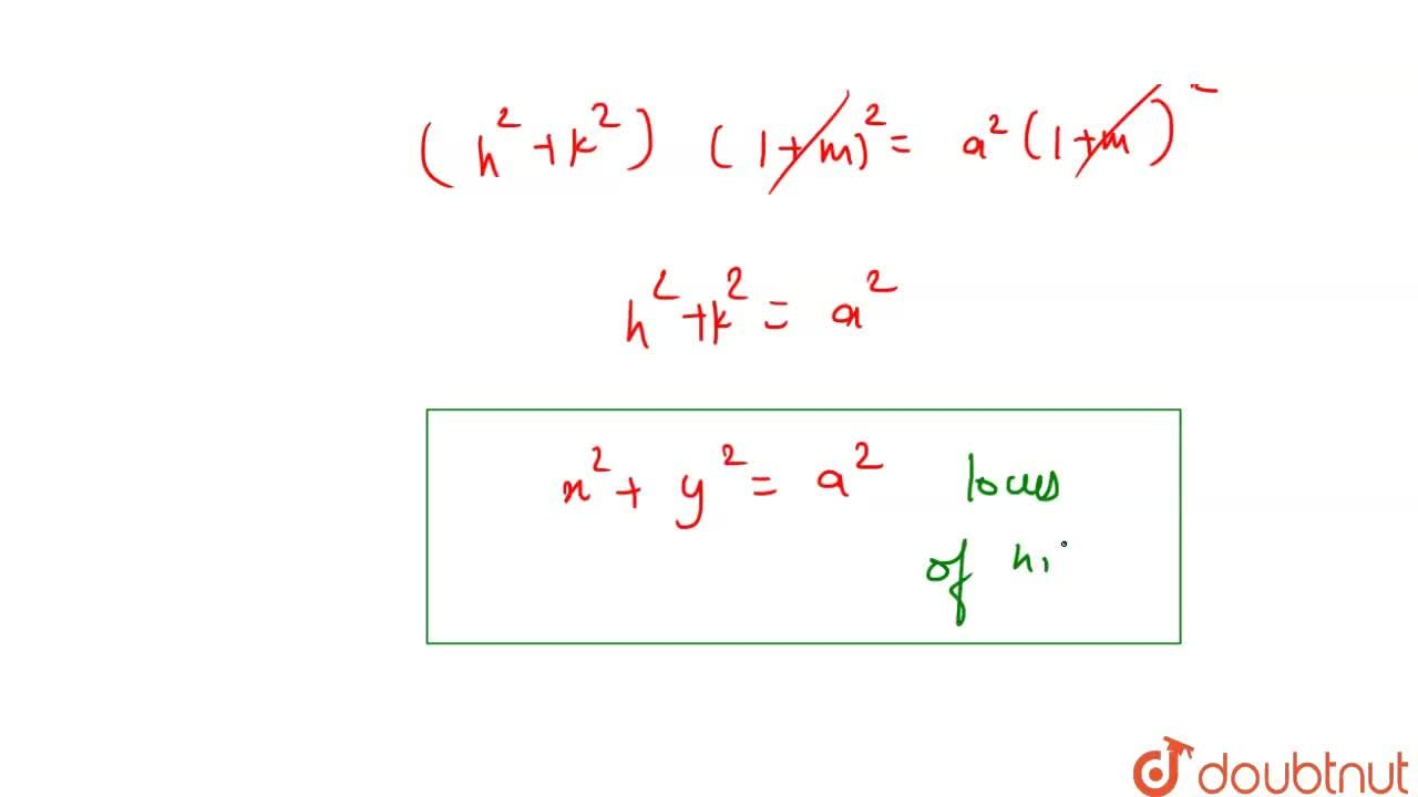 Solution for The locus of the foot of the perpendicular from th