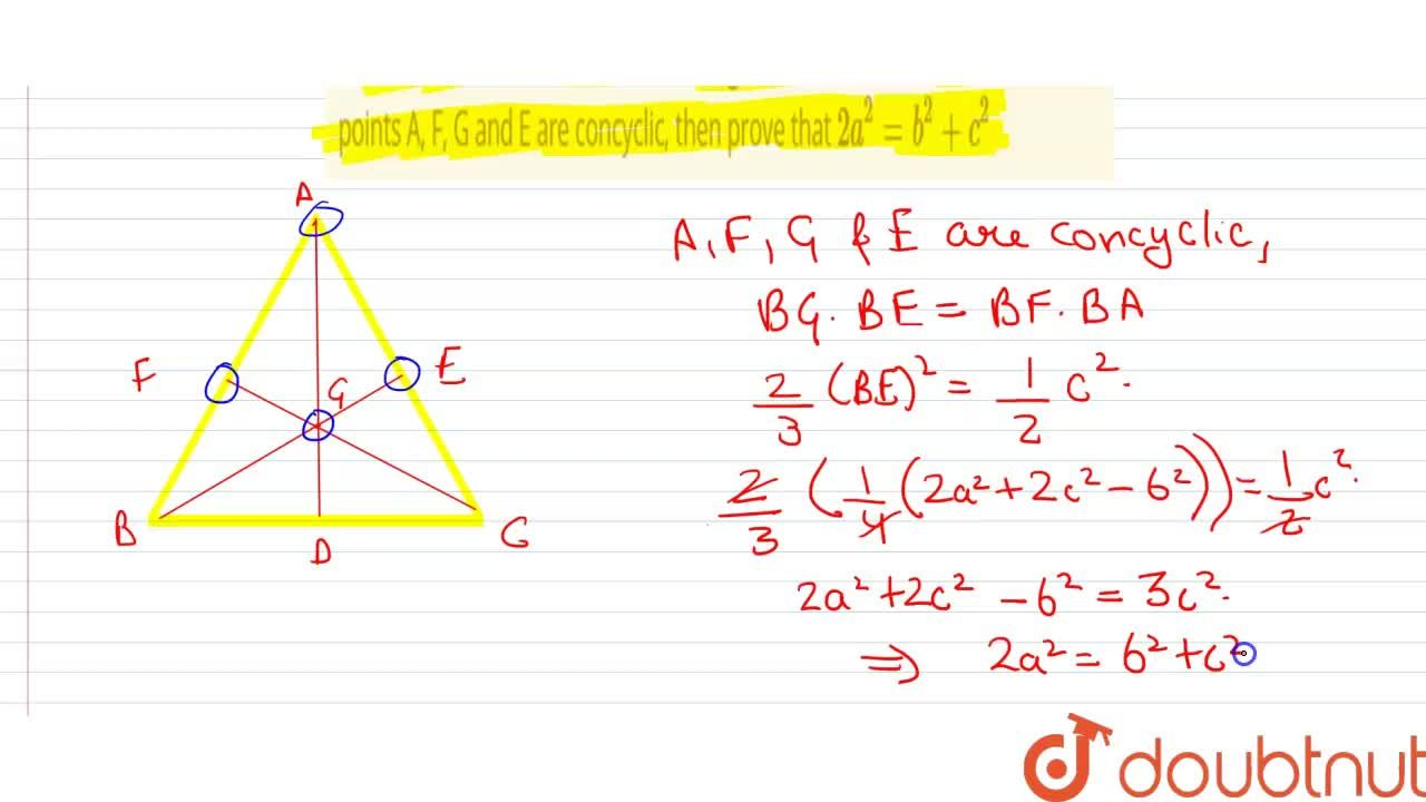 Solution for AD, BE and CF are the medians of triangle ABC whos