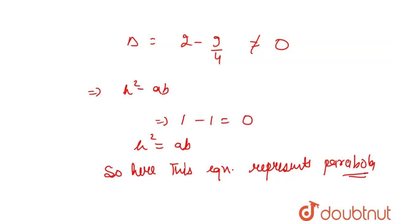Solution for The equation x^(2) - 2xy +y^(2) +3x +2 = 0 repre